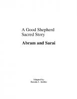 Sept 18 Abram and Sarai-Story