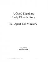 7-21Set Apart for Ministry